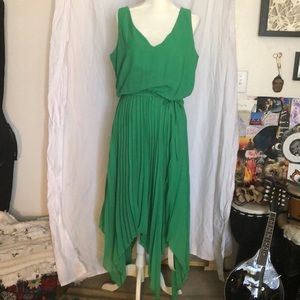 NWT Simply Be Green Chiffon Dress - Plus Size 14